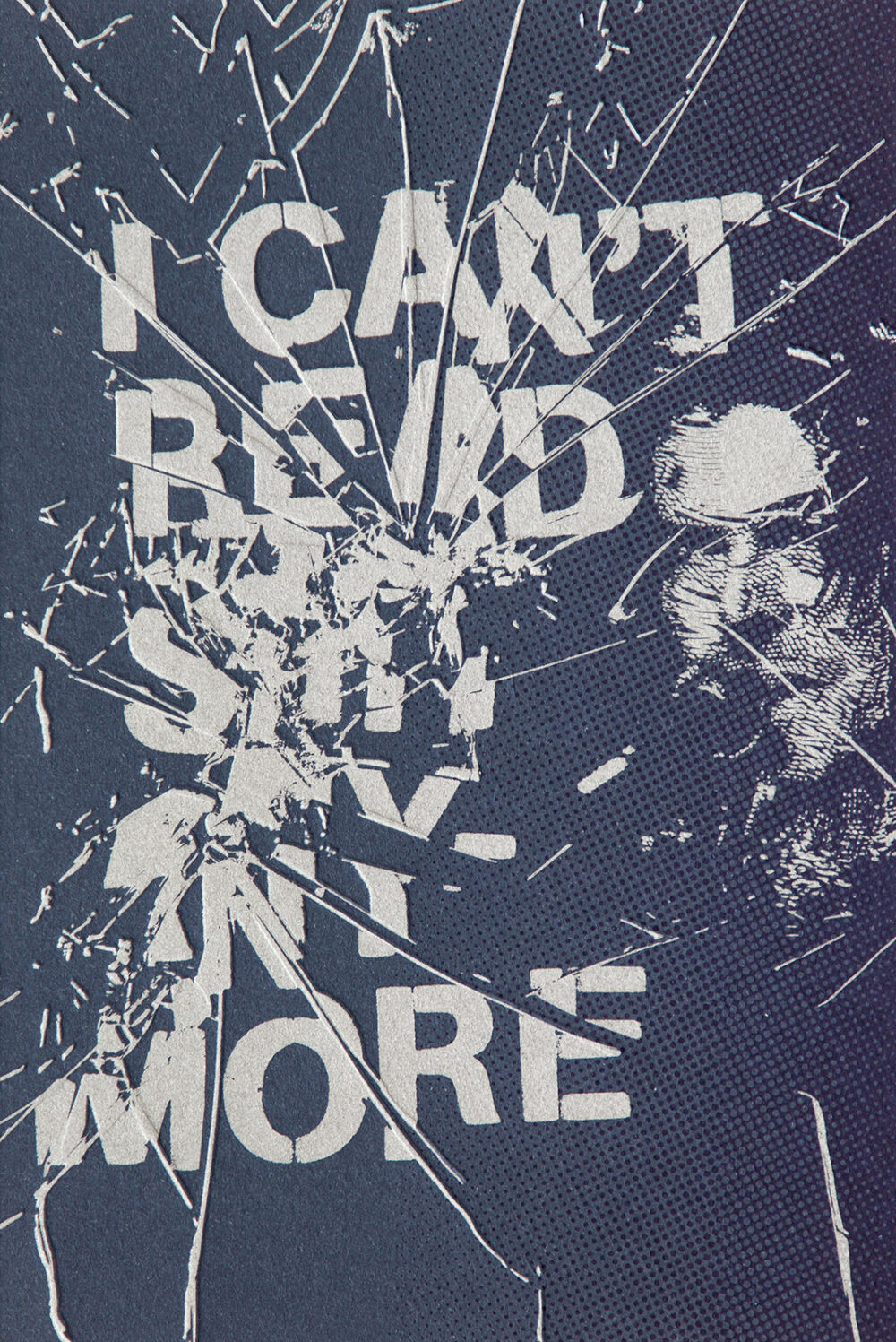 I CAN'T READ - Letterpress Art Print