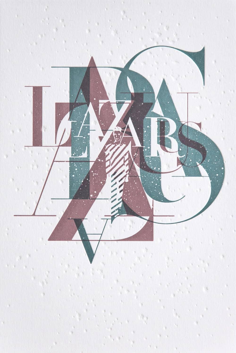 LAZARUS - Letterpress Art Print