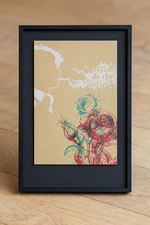 WILD IS THE WIND - Letterpress Art Print